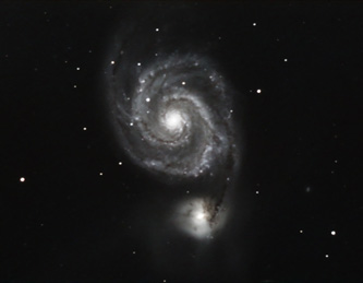 M51 @ 300sec exposure rate Meade DSI