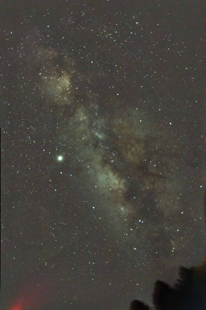The galactic center of the  Milky Way, 35mm 800ISO film & 28mm SLR lens